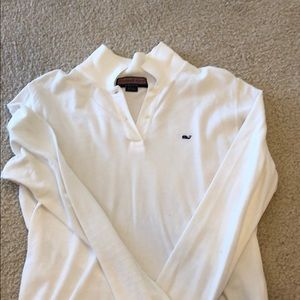 White long sleeve Vineyard Vines polo
